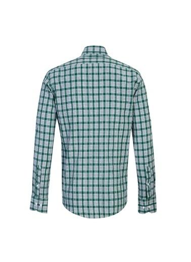 Kiğılı Uzun Kol Ekose Slim Fit Gömlek Yeşil